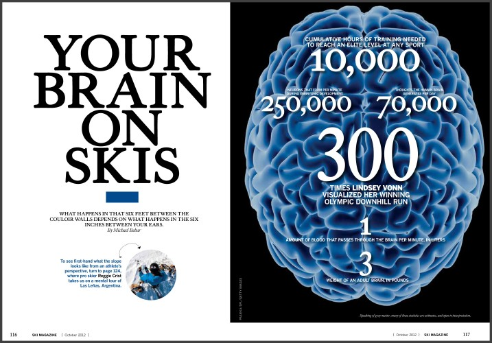 2012/09/24 Your Brain on Skis - Ski Magazine - Michael Behar